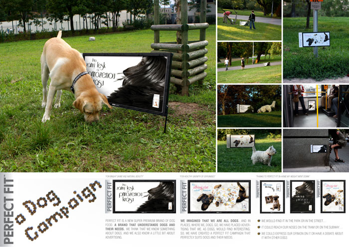 "Нестандартная реклама ""Perfect Fit Dogs"", бренд: Perfect Fit, агентство: Mark BBDO"