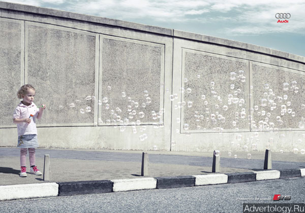 "Печатная реклама ""Bubbles"", бренд: Audi, агентство: Ogilvy South Africa"