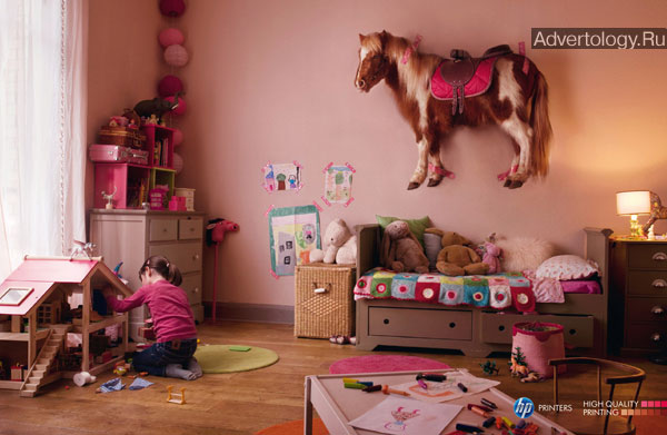 "Печатная реклама ""Pony"", бренд: HP, агентство: CLM BBDO"