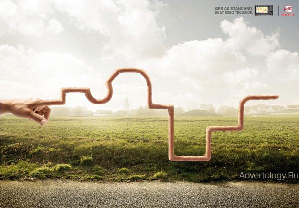 """Печатная реклама """"Finger"""", бренд: SEAT, агентство: Callegari Berville Grey"""