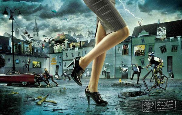"""Печатная реклама """"Неудобный мир"""", бренд: Терволина, агентство: BBDO Russia Group"""