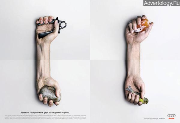 "Печатная реклама ""Bird"", бренд: Audi, агентство: Bartle Bogle Hegarty"