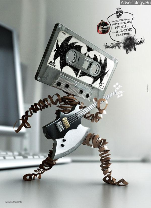"Печатная реклама ""Gene Simmons"", бренд: Radio Kiss FM, агентство: Lua Branca"