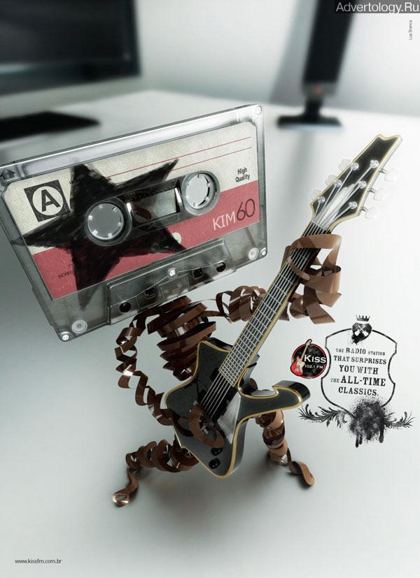 "Печатная реклама ""Paul Stanley"", бренд: Radio Kiss FM, агентство: Lua Branca"