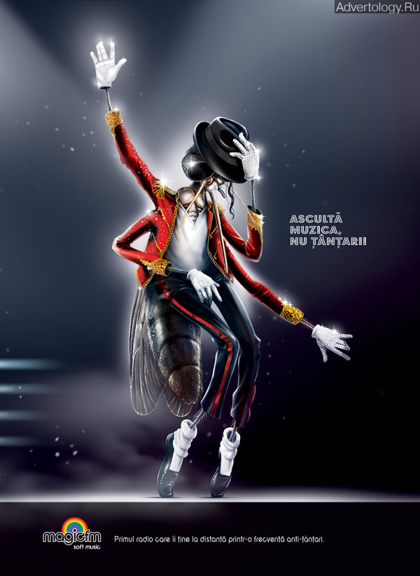 "Печатная реклама ""Michael"", бренд: Magic Fm Radio, агентство: Graffiti BBDO Bucharest"