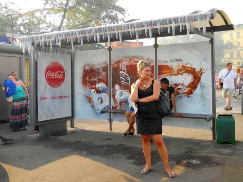 """Медиа-проект """"Ледяные автобусные остановки"""", бренд: Coca-Cola, агентство: Publicis United"""