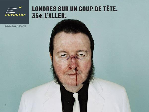 """Печатная реклама """"Go to London, 2"""", бренд: Eurostar, агентство: Leg Paris"""