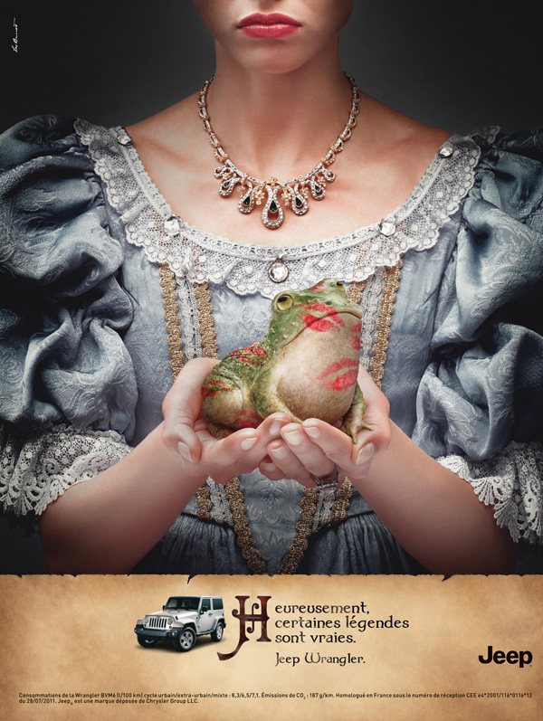 "Печатная реклама ""The princess tale"", бренд: Jeep, агентство: Leo Burnett Paris"