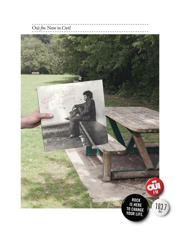 "Печатная реклама ""Creil"", бренд: OUÏ FM, агентство: Leg Paris"