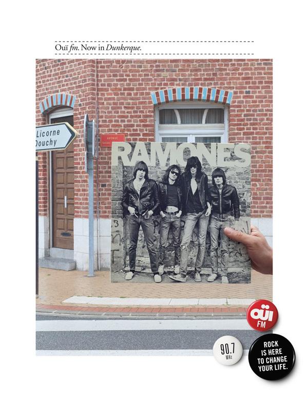 "Печатная реклама ""Dunkerque"", бренд: OUÏ FM, агентство: Leg Paris"
