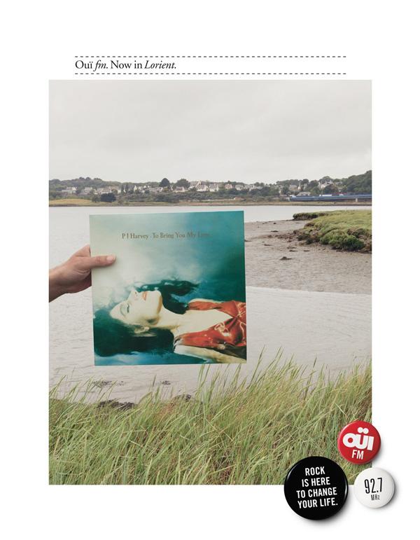 "Печатная реклама ""Lorient"", бренд: OUÏ FM, агентство: Leg Paris"