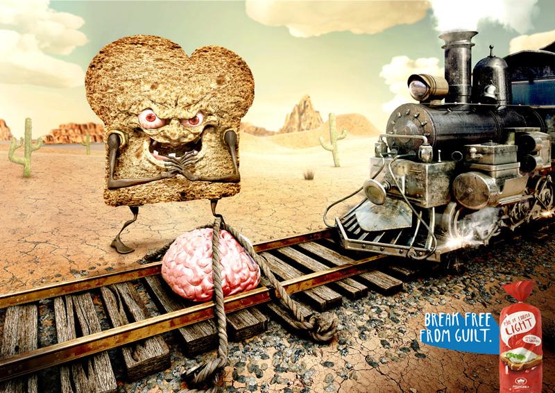 "Печатная реклама ""Train"", бренд: Princesa, агентство: Staff"
