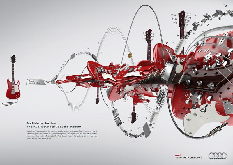 "Печатная реклама ""Guitar"", бренд: Audi, агентство: kempertrautmann gmbh"