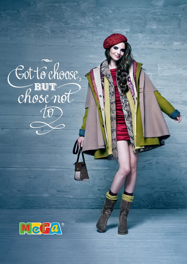 "Печатная реклама ""Пальто"", рекламодатель: ТЦ ""МЕГА"", агентство: Instinct"