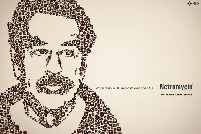 "Печатная реклама ""Saddam"", бренд: Netromycin, агентство: Ray Adcom Pvt."