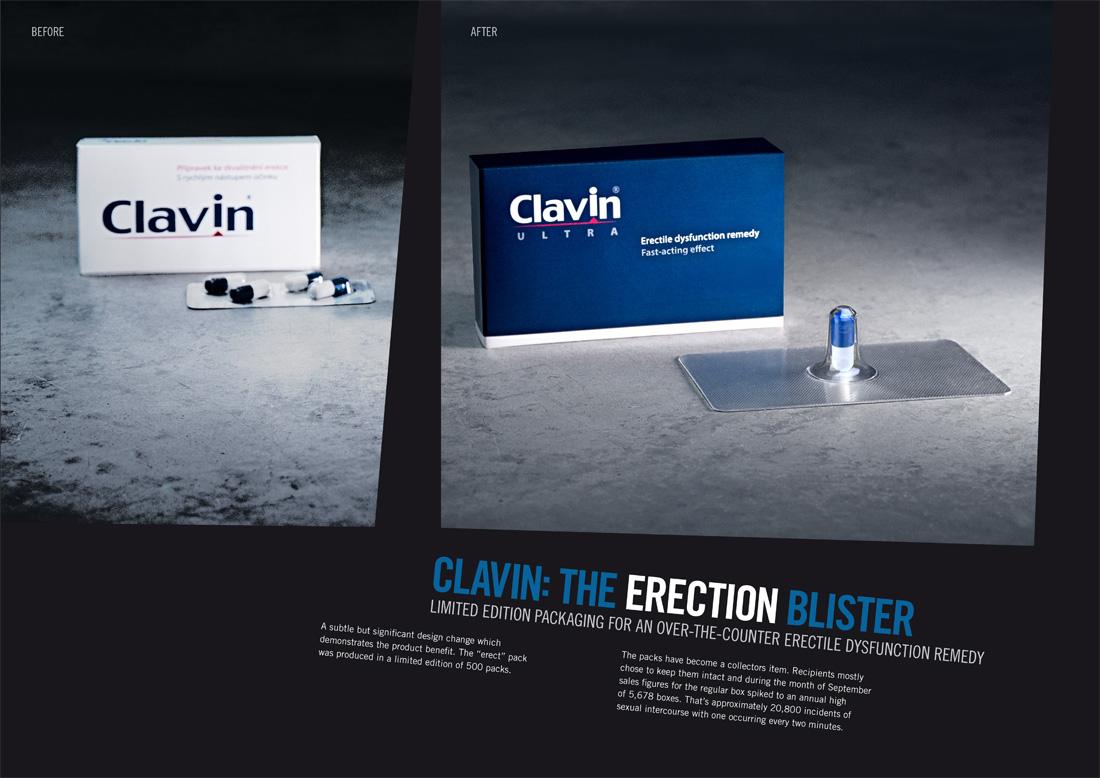 Упаковка, бренд: Clavin, агентство: Ogilvy & Mather Czech Republic