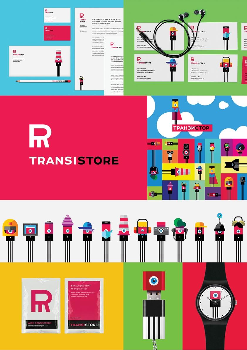 """Фирменный стиль """"Transistore"""", рекламодатель: Transistore, агентство: Suprematika"""
