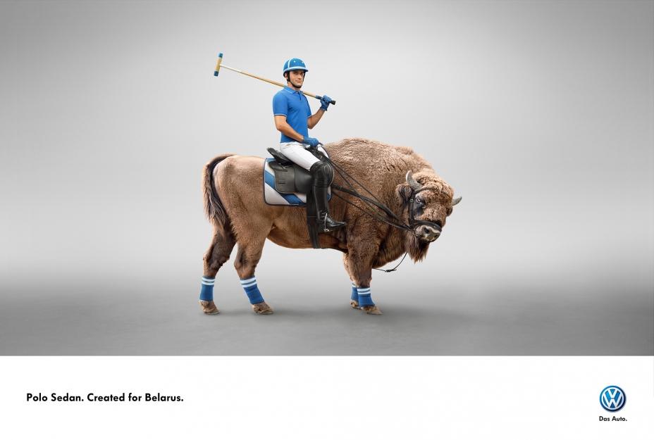 "Печатная реклама ""Зубр"", бренд: Volkswagen Polo Sedan, агентство: NEF  TBWA"